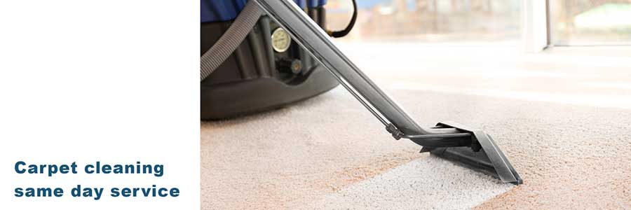 Same day residential carpet cleaning service.