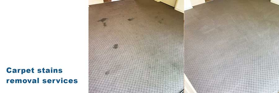 Carpet stains removal service.