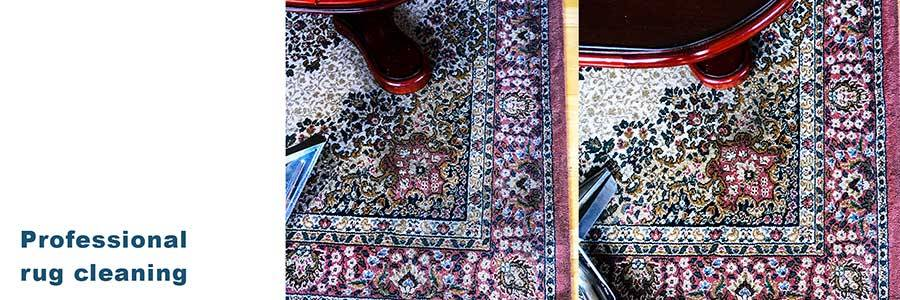 Residential rug cleaning service.
